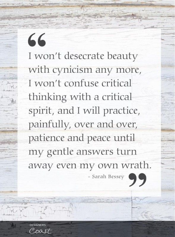 I won't desecrate beauty with cynicism :: by Sarah Bessey