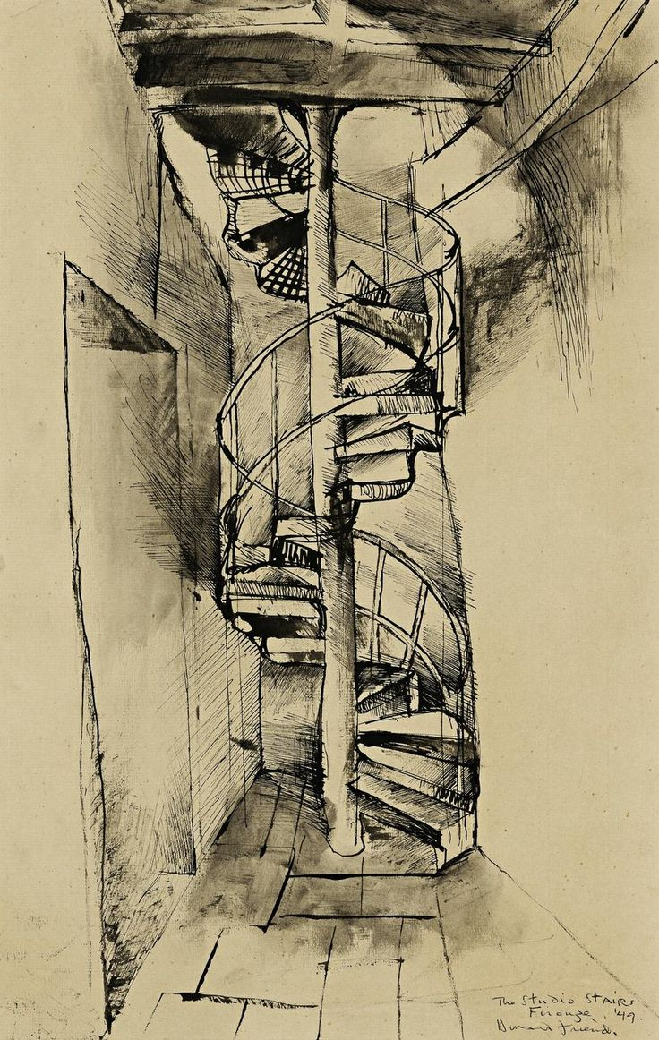Donald Friend - The Studio Stairs, Firenze, 1949