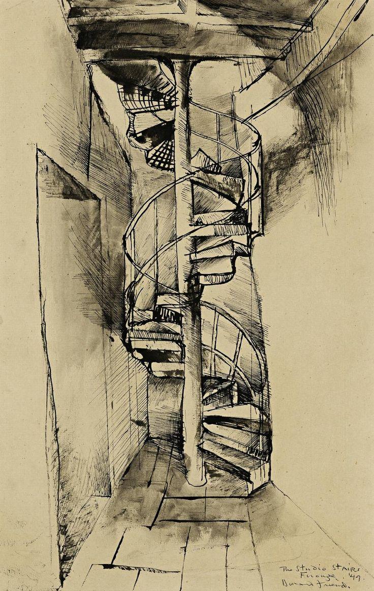 Donald Friend - The Studio Stairs, Firenze, 1949