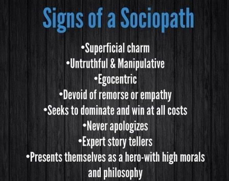 signs you are dating a sociopath Have you had an experience with a man or woman that left your head spinning turns out, they could have been a sociopath here's 8 signs to look out for have you just had an experience with a .