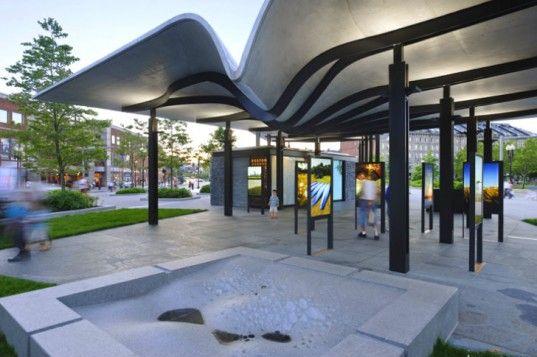 Digitally-Fabricated Boston Harbor Islands Pavilion Collects Rainwater For Irrigation | Inhabitat - Sustainable Design Innovation, Eco Archi...