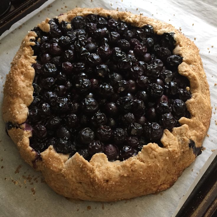 Chris' blueberry pie