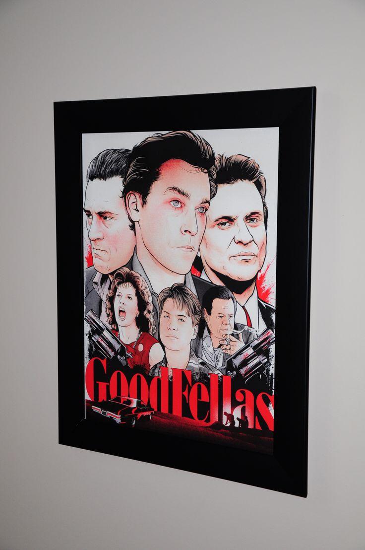 Scorsese Collection Goodfellas by Joshua Budich @JBudich purchased from @Spoke_Art framed by us www.SpotlightDisplays.com