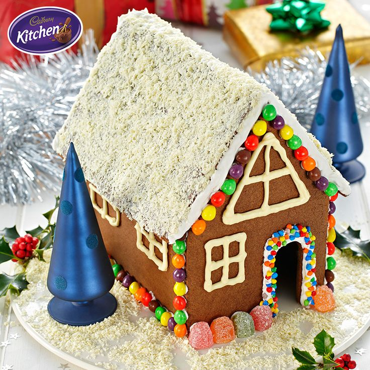 Create your own winter wonderland with this Chocolate Gingerbread House recipe. Be sure to enlist the help of the little ones to make this festive feast extra special.  #CADBURY #dessert #gingerbreadrecipe #christmas #christmasrecipes #recipeideas