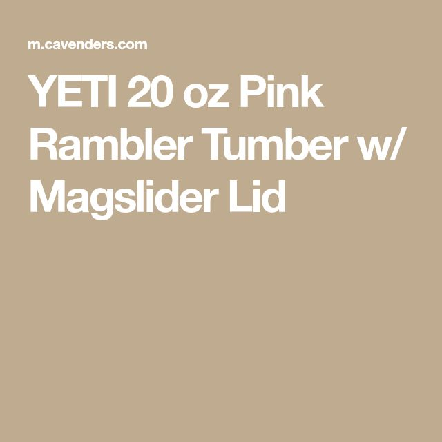 YETI 20 oz Pink Rambler Tumber w/ Magslider Lid