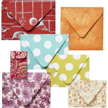 Envelope Template Kit from Paper Source; it's actually easy to make your own envelope templates.