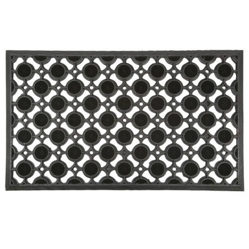 Adorn-Anti-Slip-Rubber-Mosaic-Door-Mat-Black-45-x-75cm
