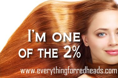 I'm one of the 2%! Are you? #redheads