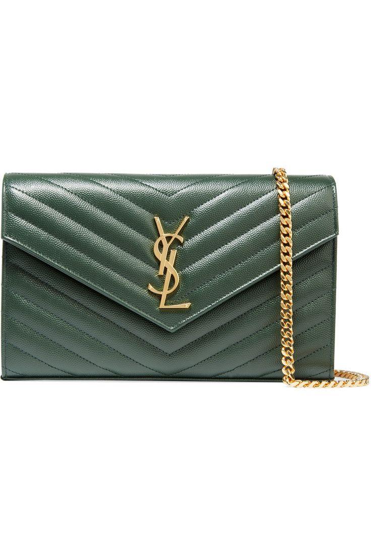 bag ysl - yves saint laurent medium monogram textured leather shoulder bag ...