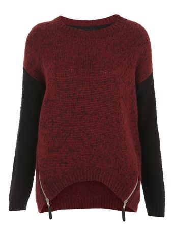 Berry Twist Contrast Jumper at Internacionale