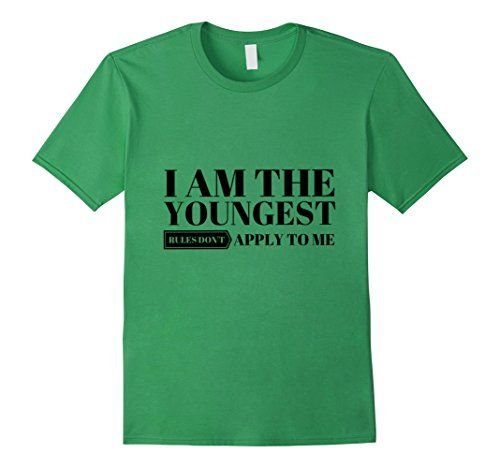 Men's I Am the Youngest Rules Don't Apply to Me - Funny #tshirt #tshirts #tees #Funny #Cute #gifts #giftideas #happyholidays #youngest #sibling #brother #sister #fathersday #mothersday #4july #birthday #graduation #school #college #teachers #professors #nurses #holidays #birthdays #Halloween #Christmas #Hanukkah #Valentinesday #anniversaries #everydaygiftideas https://www.amazon.com/dp/B01LFXAR6C/ref=cm_sw_r_pi_dp_x_jJv-xbMW898KZ