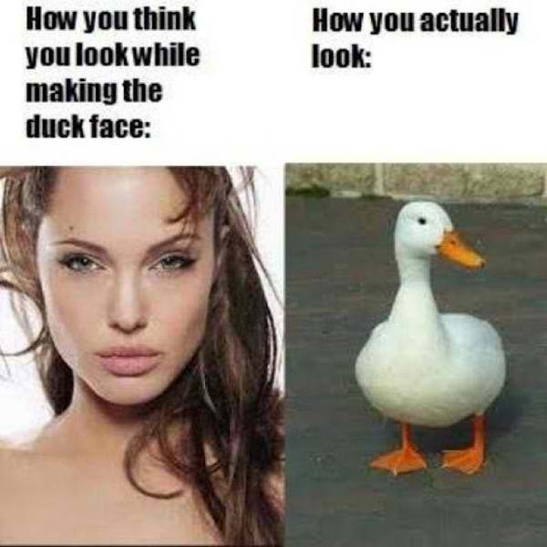 how to make a duck face selfie