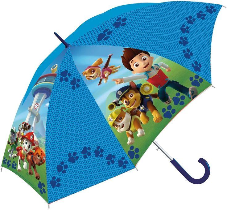 Oh nee, het regent! Pak snel je paraplu van Paw Patrol, klap hem uit en bescherm jezelf tegen de vallende regendruppels. Met mooie afbeeldingen van de stoere viervoeters uit de animatieserie Paw Patrol.   Afmeting: volgt later.. - Paraplu Paw Patrol: 38 cm