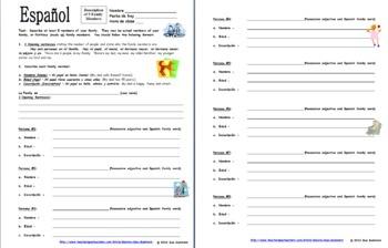La Familia Worksheets In Spanish - Worksheets