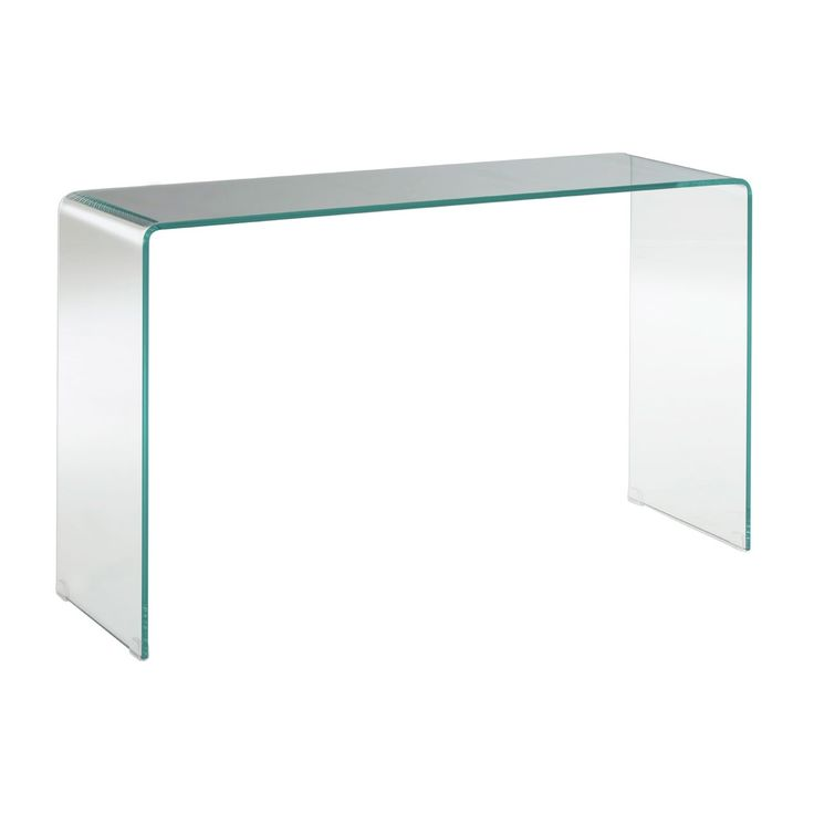 Clear glass console table, very modern and handy piece of furniture £329.99