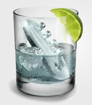 For the clever cocktail maker----gin & titonic ice cube tray $12