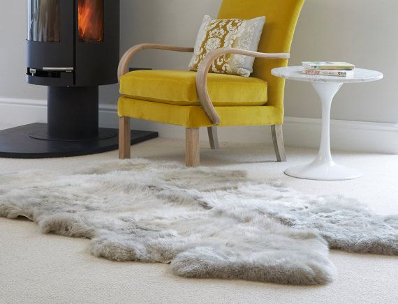 Huge Sheepskin Rug Stunning ivory luxury long by Swedishdalahorse