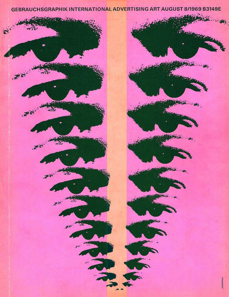 https://flic.kr/p/kZBCqr | Gebrauchsgraphik/Novum Design magazine, August 1969 | Cover from my collection of vintage Gebrauchgraphik/Novum design magazines