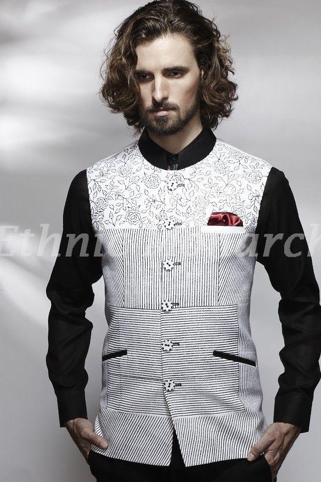 Lovely White Printed Jacket