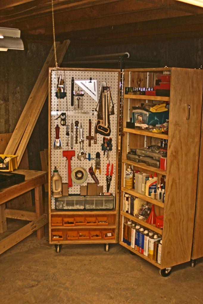 Werkzeugschrank - Türe mit Rollen -> können zzl noch Werkzeuge untergebracht werden ohne das die Türe absackt