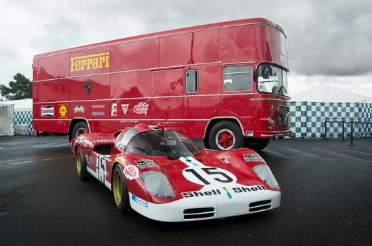 Race Car Transporters - Ferrari 512S and Ferrari Car Hauler.