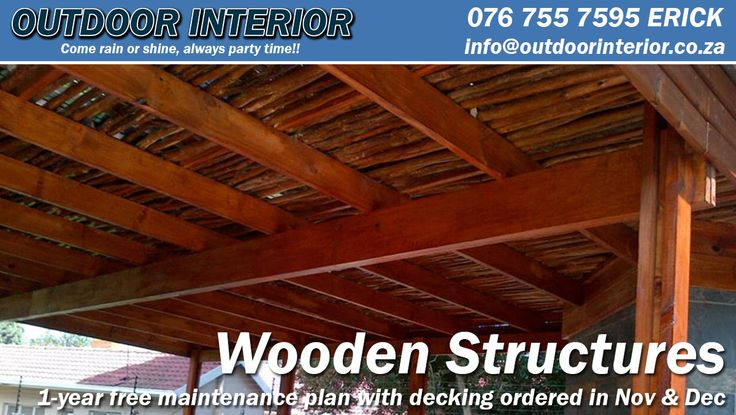 Wooden Structures - http://outdoorinterior.co.za/2015/11/16/wooden-structures/