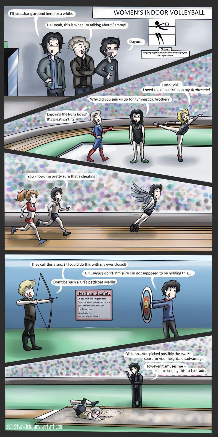 Superwholockingers - at the Olympics by ~Star-Jem on deviantART