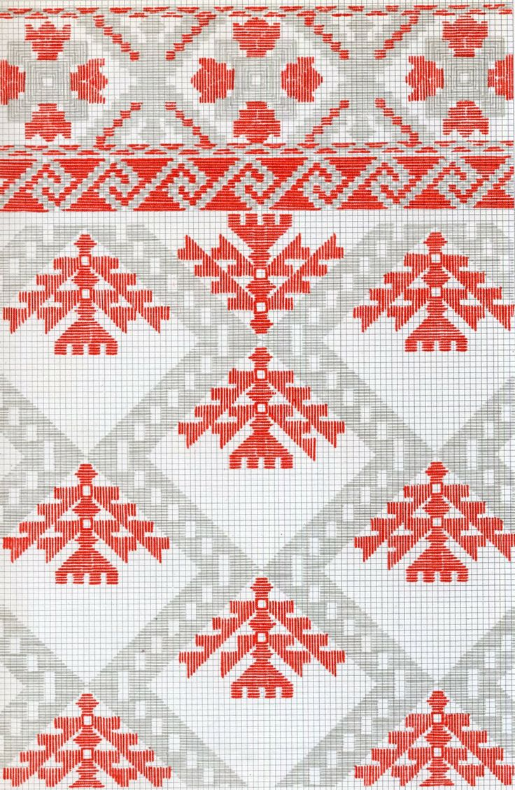 White, Black and Red Embroidery of Chernyhiw Province and East Polissia, Ukraine