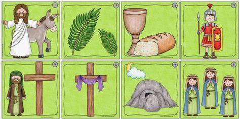 12 Lesekarten zur biblischen Ostergeschichte Als ich heute die schönen Osterbilder von Kate Hadfield entdeckt habe, musste ich gleich z...