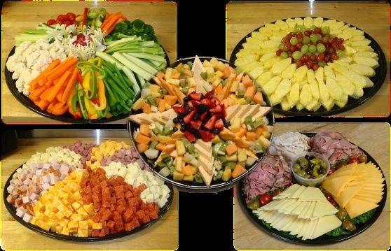 Party platters-- this would be easy to do myself, and would make a great meal for a summer wedding! http://pinterest.com/pin/327707310355408819/
