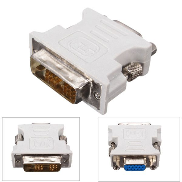 DVI-D (181) Dual Link Male to VGA HD15 Female Adapter Converter for PC Laptop  You can use the DVI to VGA device. Such as graphics output digital signals to analog signals and only used in the liquid crystal display VGA interface. Features: 1. 181Pin DVI-D Male to 15-Pin VGA Female Adapter will allow your computer video card DVI-I outputs to connect to monitors or signal capture devices that have VGA inputs. 2. This converter can convert DVI-D female port to analogy VGA 15pin female port. 3…