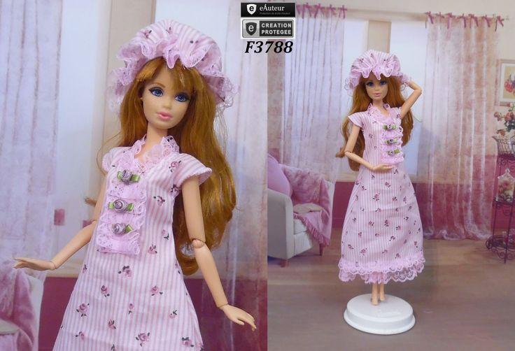 tenue barbie chemise de nuit n 3 v tement robe de nuit pour poup e barbie f3788 jeux. Black Bedroom Furniture Sets. Home Design Ideas