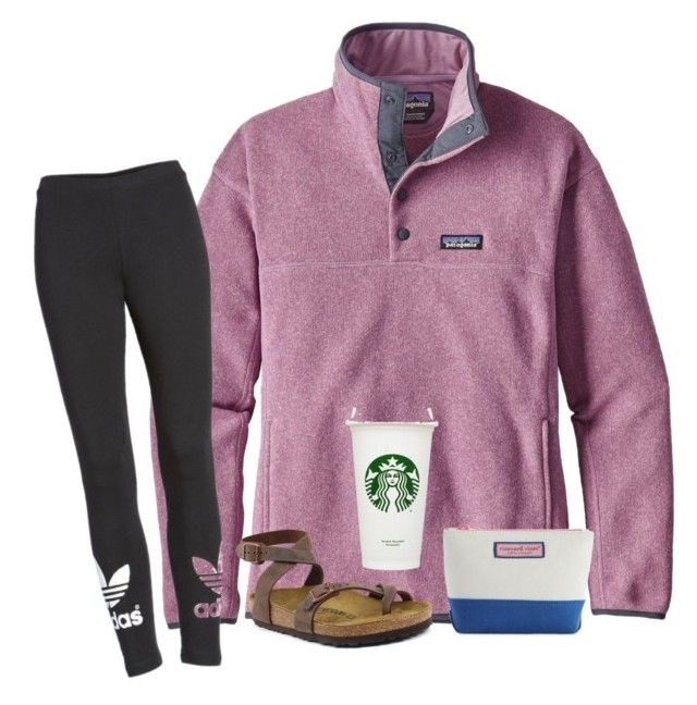 """Day 12"" by sunshinesmiley520 on Polyvore featuring Patagonia, adidas and Birkenstock"