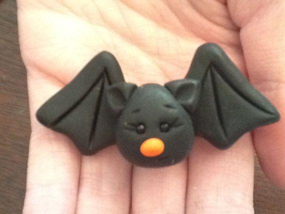Pen topper - Polymer clay bat pin