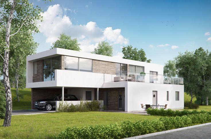 Kataloghus U- 600 bliderne bolig over to plan med carport! #mordern#architecure#contemporary#design#living#funkisinspirert#flat#tomt#drømmehus