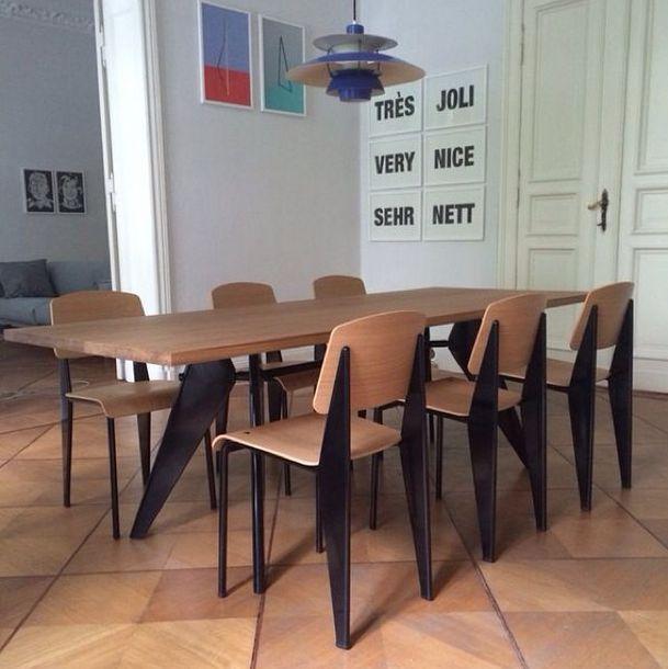 jean prouve em table. Black Bedroom Furniture Sets. Home Design Ideas