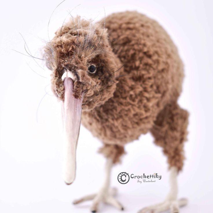 Crochettiky Kiwi bird   It's impossible to spend holidays in New Zealand and not to make kiwi bird!   Yarn: soft plush.  Fill: non-allergenic, polyester fiberfill. Size: approx 18 cm high. Clay beak.  Glass eyes.  Wire frame.  Colored with acryl. $99   #crochetaddict #craft #handmadebyme #амигуруми #вязание #mydesign #örgü #ganchillo #あみぐるみ #かぎ針編み #virka #handmadewithlove #yarn #crochetlove #crochetart #perthartists #perthart #WA #artdoll #toy #crochettoy #amigurumitoy #plushies #handmadetoy…