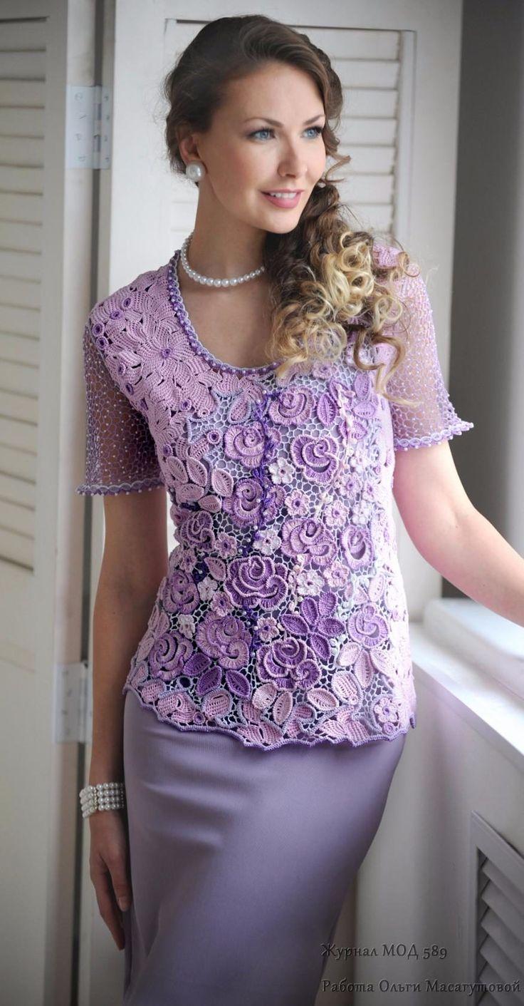 Irish crochet violeta!!