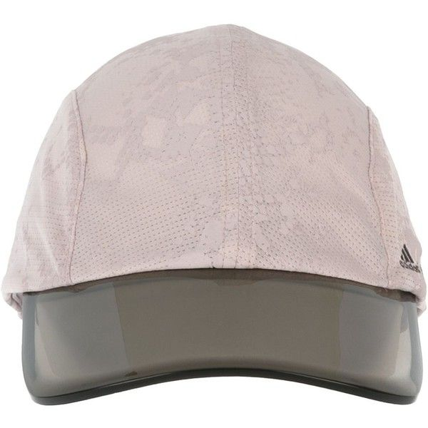 Adidas By Stella Mccartney Running Cap ($39) ❤ liked on Polyvore featuring accessories, hats, grey, cap hats, sun visor hat, adidas, gray hat and visor hats