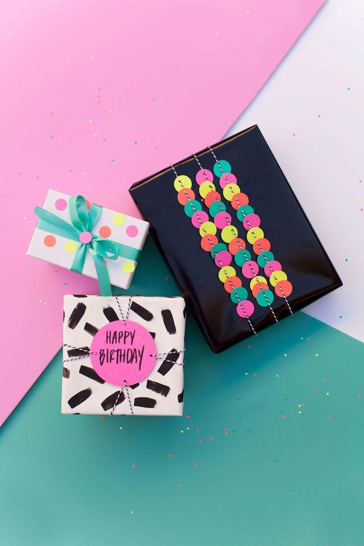 Fun Gift Wrap Ideas Using a Hole Punch