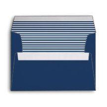 Regal Blue Striped Envelope