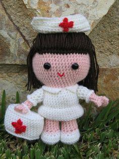 Amigurumi Enfermera en crochet