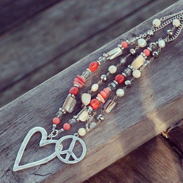 #A&C #beautifula&cjewellery #peace  #heart #coral #beads #necklace #necklaces #jewelleryobsessed #jewelryofinstagram #fashionaccessories #fashion #accessories #jewellery #jewelry #merx @merxinc #merx_inc
