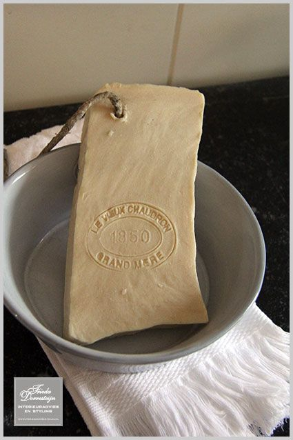 Cream and stamped soap