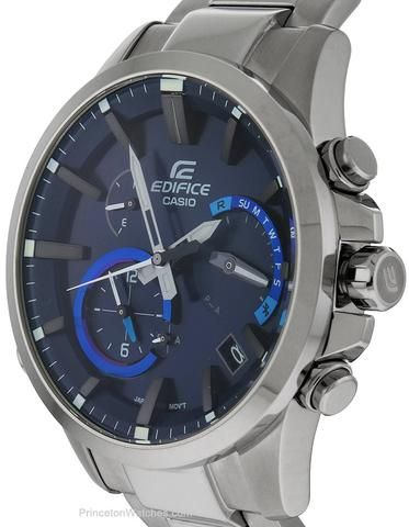 Casio Edifice Solar Bluetooth Smart Watch - Blue Dial - Stainless Steel