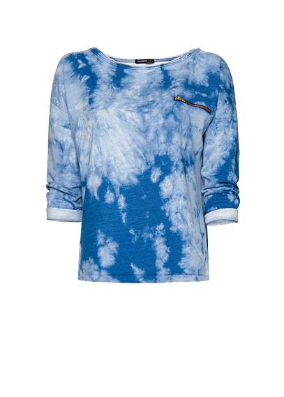 Cotton Tye Dye Sweatshirt (Mango, € 34,99).