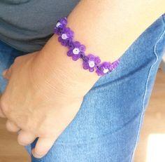 DIY Bracelet  flowers hama beads