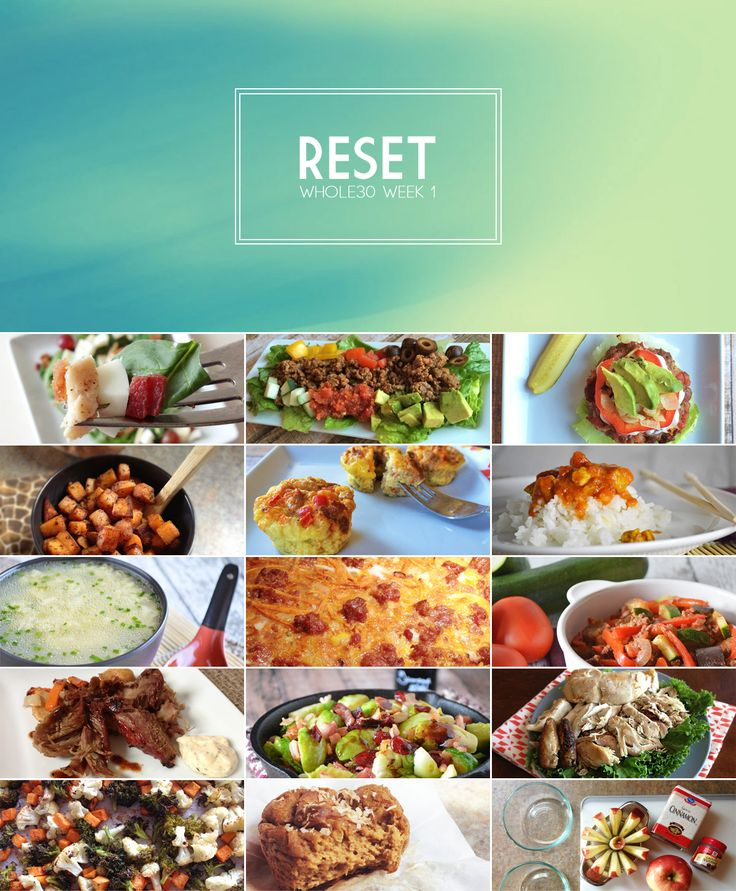 Complete Whole30 Meal Plan for Week 1 (with recipes and grocery list) #whole30 #paleo
