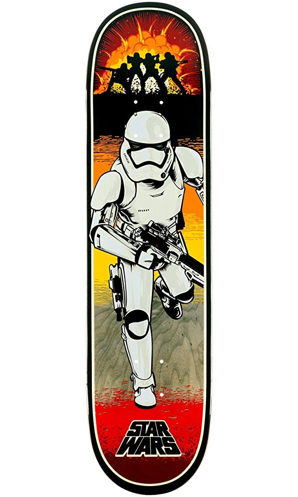 "Santa Cruz Skate Star Wars Episode VII Stormtrooper Team Skateboard Deck, 31.6""x8"" Best Price"