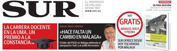"""Hoy con el Diario Sur comienza el coleccionable """"Escapadas por Málaga"""". Hoy gratis """"Ardales, roca y piedra"""".  Patrocinado por Diputación de Málaga, Sabor a Málaga, Gran Senda de Málaga y Patronato de Turismo de la Costa del Sol. http://www.diariosur.es/planes/201409/27/ofrecera-desde-manana-coleccionable-20140927005849.html?ns_campaign=WC_MS&ns_source=BT&ns_linkname=Scroll&ns_fee=0&ns_mchannel=TW"""